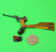 G_P08AL 1:6 Action Figure DRAGON WW2 GERMAN ARTILLERY LUGER P08 PISTOL MODEL