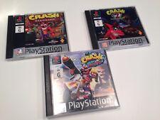 Crash Bandicoot PS1 Bundle Crash 1, 2, 3 PAL
