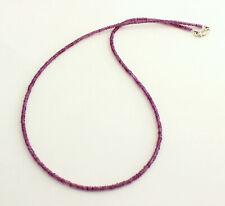 Amethyst Kette Edelsteinkette fein-geschliffen Lila facettierte halskette 45 cm
