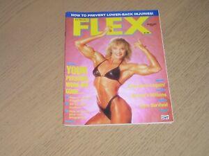 Flex Bodybuilding Magazine Feb 1987 Cory Everson Ms Olympia 1986 on cover