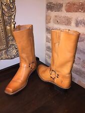 FRYE WOMENS HARNESS BOOTS SIZE 10 SUNRISE LEATHER NEOPRENE SOLE NEW WITHOUT BOX