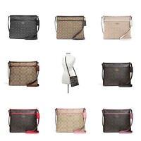 New Coach F29960 F29210 Signature File Crossbody Handbag Authentic