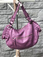 Kenneth Cole Reaction Leather Hand Shoulder Bag Purple Grape