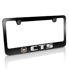 Cadillac CTS Black Metal License Plate Frame, Official Licensed, Warranted