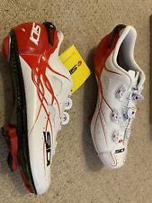SIDI SCARPE SHOT CARBON Road Bike shoes size EU 43 US 9 White / Red