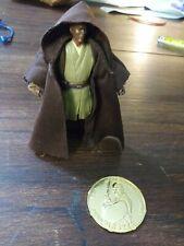 """Rare 4"""" Jedi Master Mace Windu Action Figure w/Cloak & Collector Coin"""
