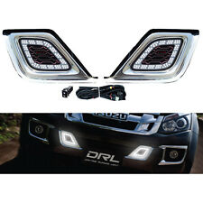 12 13 14 Isuzu Dmax D-Max Drl Led Daytime Running Daylight Light Lamp Cover Trim