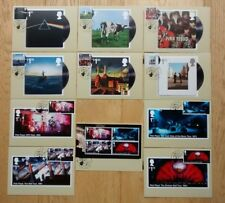 2016 Pink Floyd Set of 11 PHQ Postcards USED First Day Front