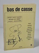 """(Revue) Bas de casse, n°2 """"Autour de Pinget"""". Beckett. Dubuffet. Novarina."""