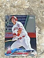 2018 Topps Chrome Mike Trout #100 Los Angeles Angels MLB Baseball Card