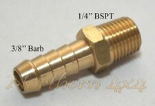 """Brass Barb Fitting 1/4 BSPT Male Thread to 3/8"""" INCH Barb Straight"""