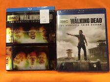 The Walking Dead: Season 3 (Blu-ray Disc, 2013, 5-Disc Set)w/SLIPCOVER-NEW