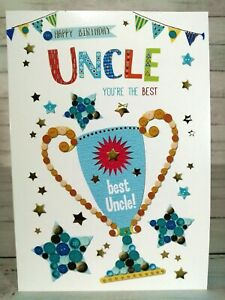 Happy Birthday Card For Uncle You're The Best, With Trophy