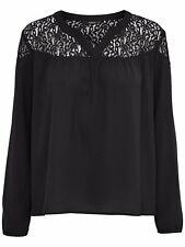 5/11 NEU ONLY Damen Hemd Spitze Bluse onlPAPRIKA L/S V NECK TOP SOLID WVN Gr.38