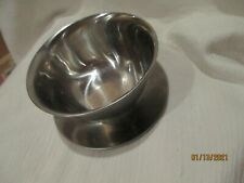 New listing condiment bowl stainless Steel 18-8 heavy 6 inches across Euc