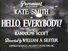 HELLO,EVERYBODY! ~1933~ Kate Smith,Randolph Scott region free DVD