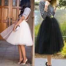 Laides Women Tutu Swing Skirt Ballet Tulle Princess Mini Dress Wedding Party UK