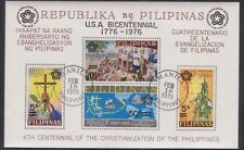 PHILIPPINES 1976 souvenir sheet USED BICENTENAIRE OF USA Overprint 200 years