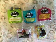 Vintage 1991 BATMAN McDonalds Toys Lot of 5 NIP