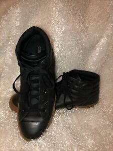 Converse All Stars Black Leather Uppers Sneakers 150818C Men's Size 12 High Top