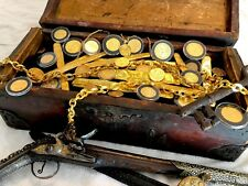TREASURE CHEST REAL 1600-1700's CARRIED GOLD COB DOUBLOONS ESCUDOS in GALLEON