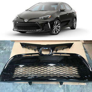 Front Upper Lower Bumper Grill Grille for 2017 2018 2019 Toyota Corolla SE XSE