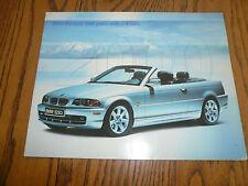 2000 BMW 3 5 7 Series M Cars Z8 Z3 - Sales Brochure w/X5 Sports Vehicle Poster