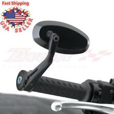"7/8"" Handle Bar End Motorcycle Rear view Side Mirrors For Honda Yamaha Suzuki US"