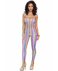 Rainbow Stripes Bodystocking - Music Legs 1379