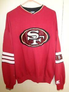 Vintage Starter Pro Line Mens L Sweatshirt Crewneck San Francisco 49ERS