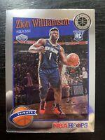 Zion Williamson 2019-20 NBA Hoops Premium Stock Base Tribute RC #296 Pelicans A