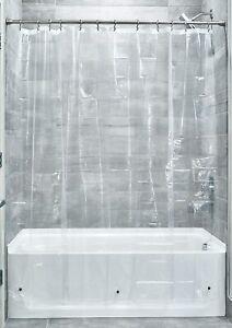 InterDesign Mold/Mildew Resistant PEVA 3 Gauge Shower Curtain Liner, Clear
