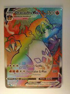 Carte Pokémon ►Dracaufeu VMAX RAINBOW 74/73.La Voie Du Maitre.NEUF