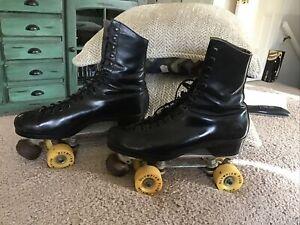 VTG Reidell RedWing Boots Snyder's Super Deluxe Mens Roller Skates Sz 10 CUSTOM