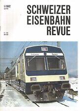 SCHWEIZER EISENBAHN REVUE 01-82 DAS KONZEPT DER NEUEN PENDELZUGE BLS-BETRIEBSGE.