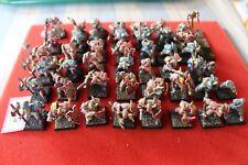 Warhammer Guerreros Caos ejército de metal Slaanesh games workshop pintado Regimiento GW