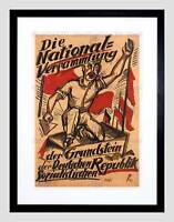 POLITICAL PROPAGANDA GERMAN SOCIALIST REPUBLIC WEIMAR GERMANY POSTER ART 1854PY