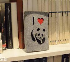 """""""Cute Panda"""" Luxury Wool Felt Cover Notebook Kraft Diary Journal Planner #AU"""