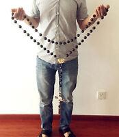 Large 20mm Rosewood Wood beads Home Wall Rosary Catholic crucifix cross Gift box