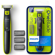 Philips OneBlade QP252020 Rasierer Bartschneider 3 Aufsätzen abwaschbar