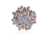 Pave 0,16 Cts Runde Brilliant Cut Natürliche Diamanten Nase Stud In 750 18K Gold