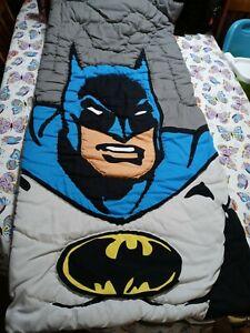 DC Comics Batman Retro Super Powers Reversible Sleeping Bag Pottery Barn Kids