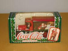 VINTAGE 1993  COCA COLA DIE CAST METAL CHRISTMAS SANTA CLAUS BANK TRUCK SEALED