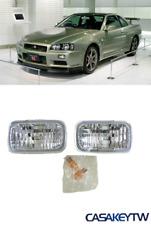 JDM GTR GT-R Crystal Bumper Turn Signal Lights for 98~01 Nissan Skyline R34 FGT