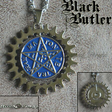 New Black Butler Alois Trancy Star Pentacle Emblem Jewelry Necklace Pendant 360°
