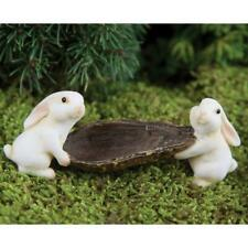 Miniature Dollhouse Fairy Garden - Bunnies In Pod - Accessories