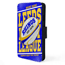 Personalised LEEDS iPhone Case Rugby League Retro Dad Boys Sport Gift RP08