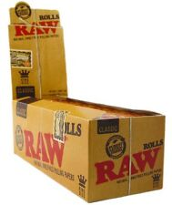 1 Roll - Raw Classic King Size Natural Unrefined - 3 Meter - Roll Rolling Papers