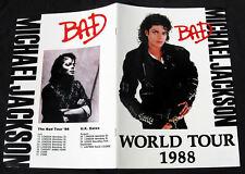 Michael Jackson Programme BAD TOUR UK Program 1988
