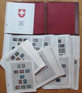 Lindner Ringbinder(Rot) 61 CH-Vordruckblätter(1968-1989)KG2839, tolle Erhaltung